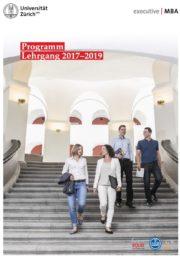 Executive MBA UZH Programmbroschüre Lehrgang 2017-2019