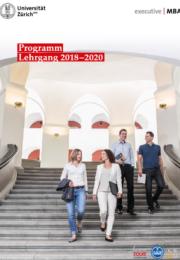 Executive MBA UZH Programmbroschüre Lehrgang 2018-2020