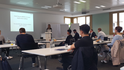 Personal and career development at the EMBA UZH
