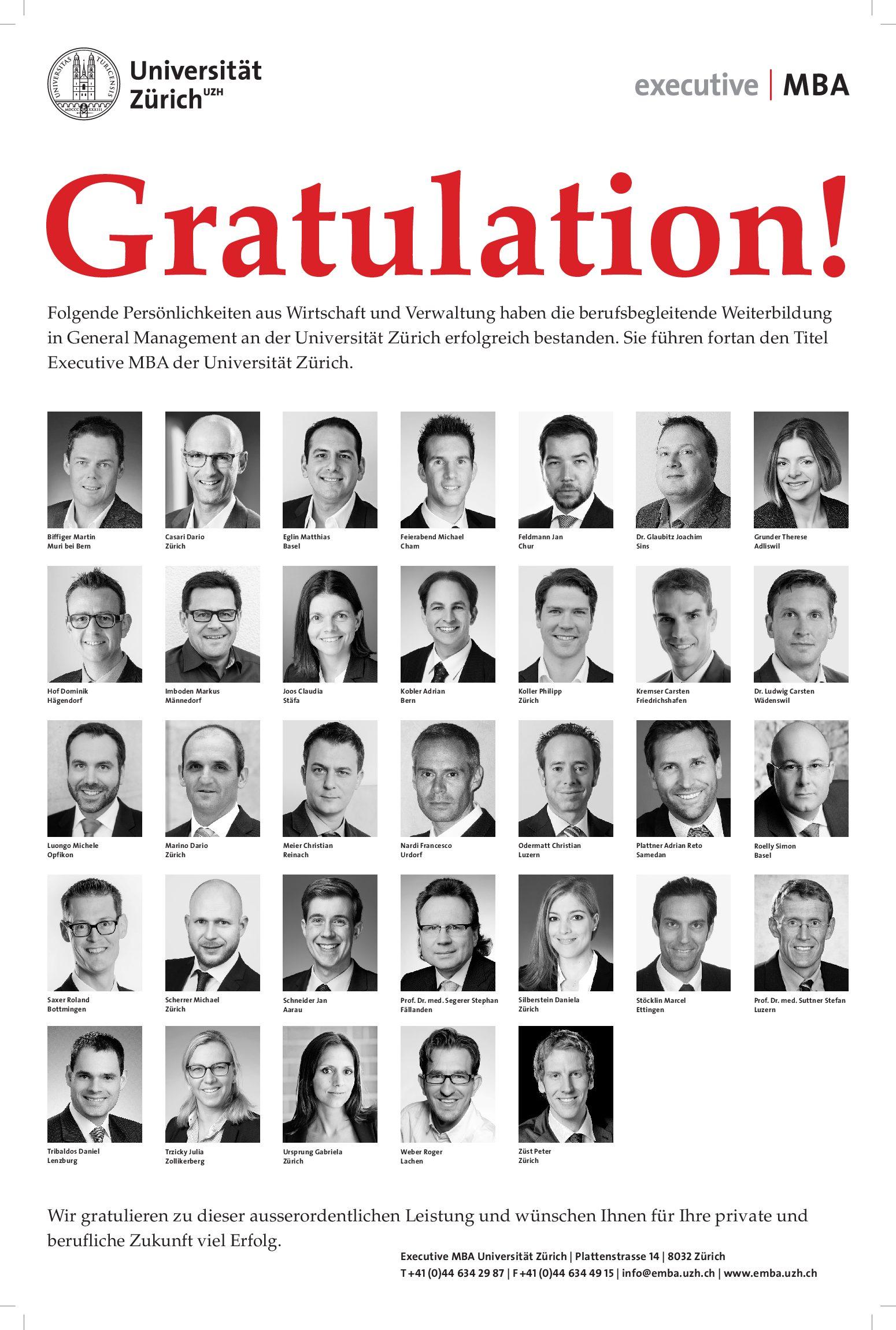 Abschlussfeier Lehrgang 2015-2017