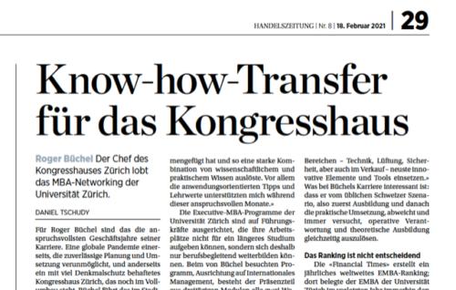 Know-how-Transfer für das Kongresshaus