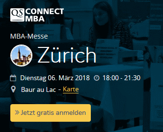 Executive MBA UZH ist am MBA-Event QS Connect MBA in Zürich!