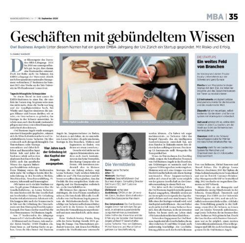 EMBA UZH Alumni als nachhaltige Investoren in Schweizer Start-Ups