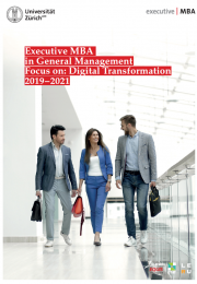 Executive MBA UZH Focus on: Digital Transformation Programme Brochure