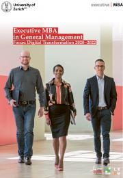 Executive MBA UZH Focus: Digital Transformation Program Brochure 2020-2022
